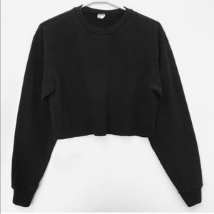 American Apparel Cropped Sweatshirt